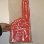 Bahrain Grand Prix large foam hand from 2000's